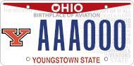 Alumni YSU License Plate
