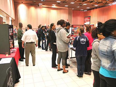 Students at Major's Fair