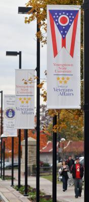YSU veteran flags