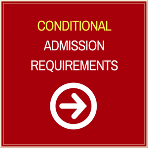 Conditional Admission Requirements