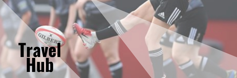 A YSU Women's Rugby Club player kicking a rugby ball