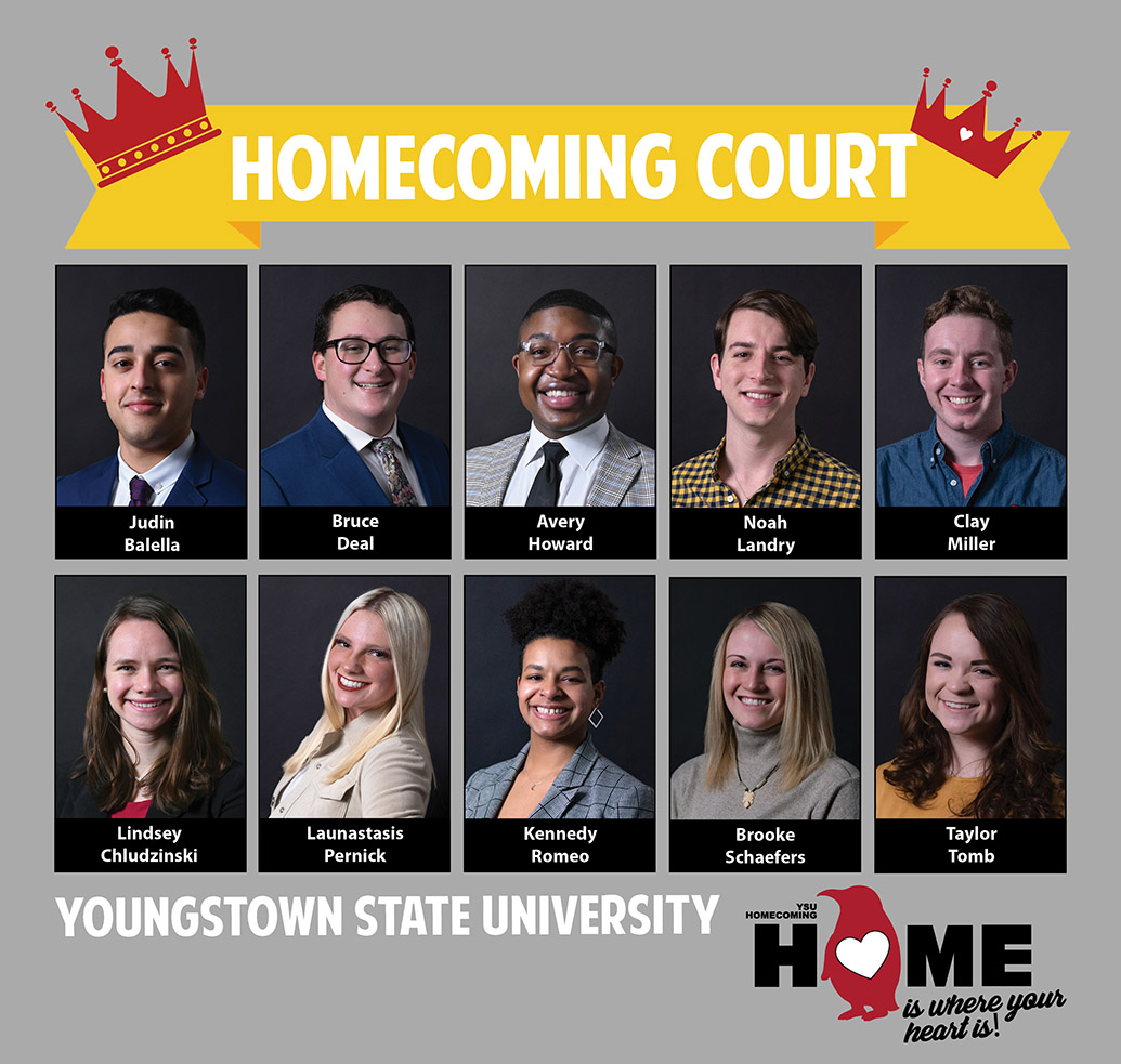 Homecoming Court collage | 5 males and 5 females
