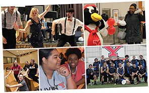 5 photos of students involved in YSU Student Organizations.