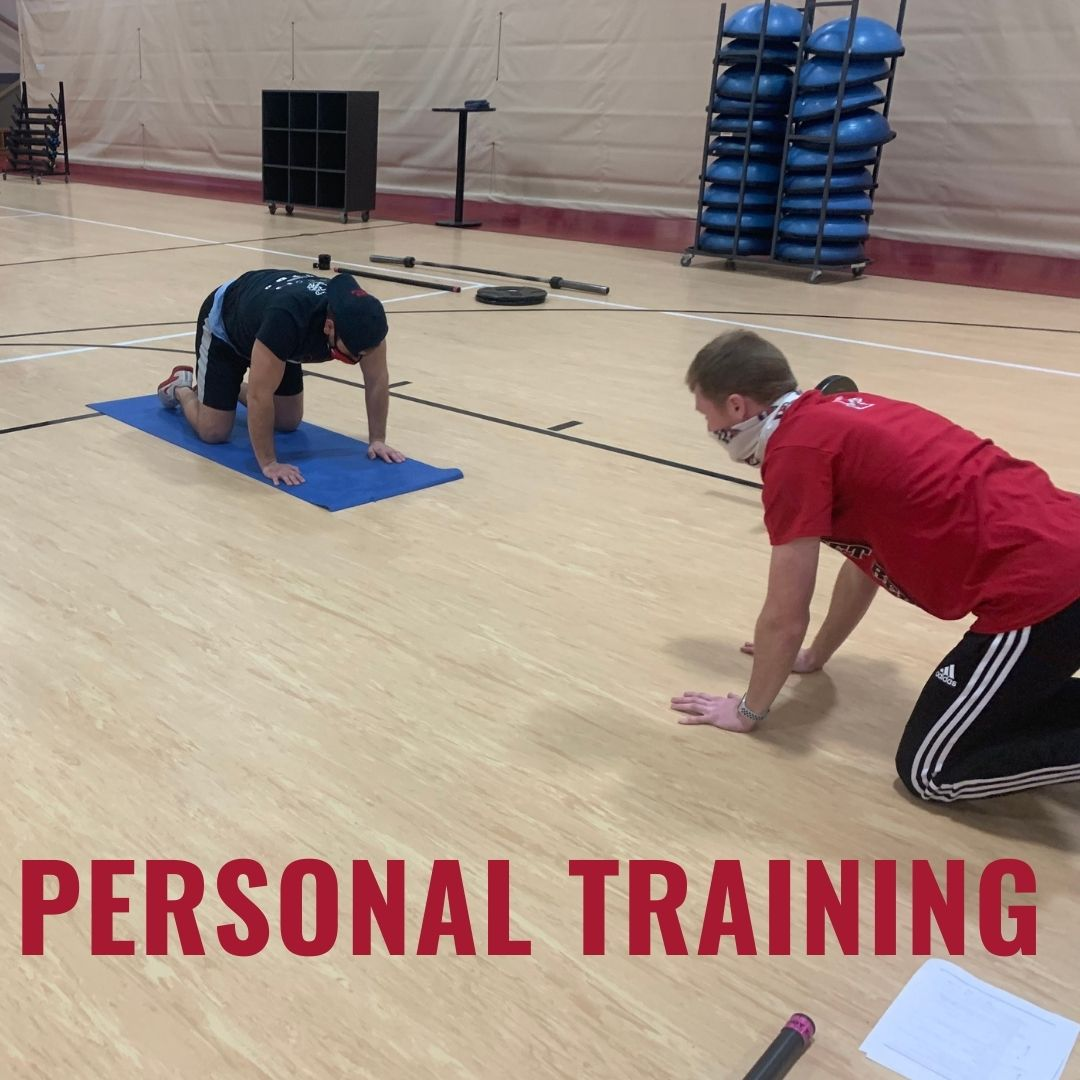 Personal training in yoga pose