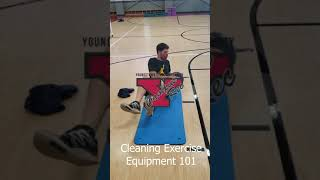 Cam cleaning exercise equipment