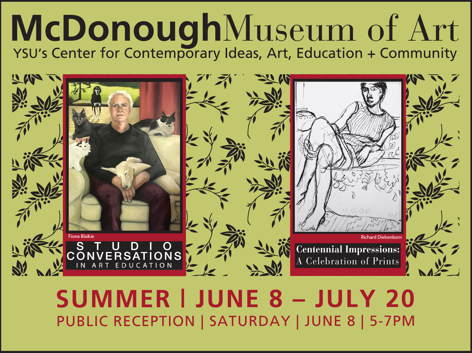 McDonough Museum of Art Events, June 8 through July 20